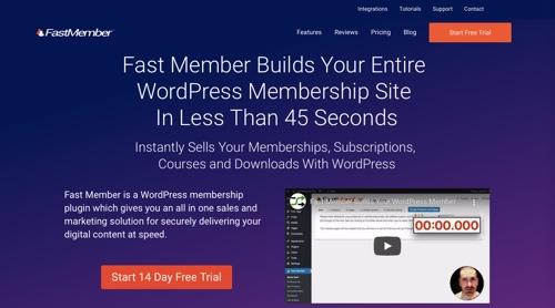 Page d'accueil de Fast Member